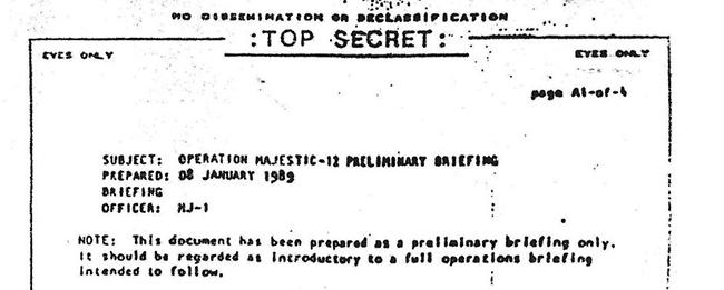 Новый  документ Маджестик раскрывает дипломатические отношения США с инопланетянами MJ-Briefing-1989-prelim-briefing-only