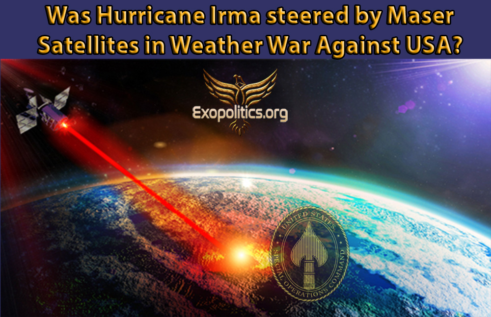 Was Hurricane Irma Steered by Maser Satellites in Weather War against USA?