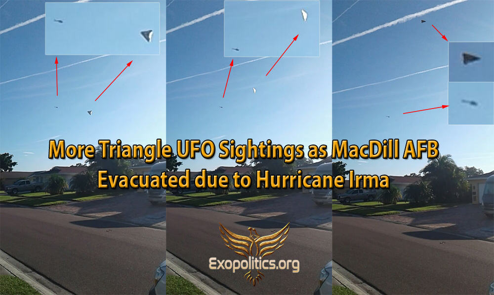 More Triangle UFO Sightings as MacDill AFB is Evacuated due to Hurricane Irma