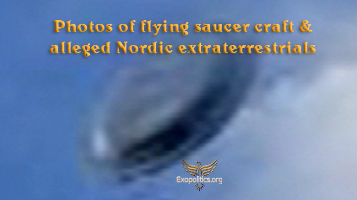 Photos of flying saucer craft & alleged Nordic extraterrestrials