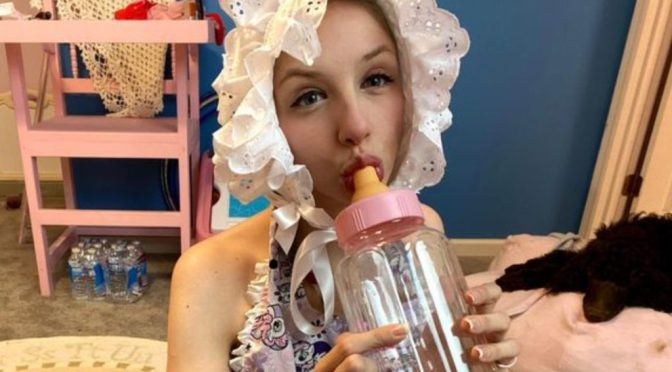 25-Year-Old Woman Lives As Full time Baby
