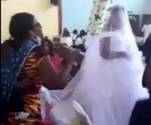 Abraham Muyunda Bride in tears