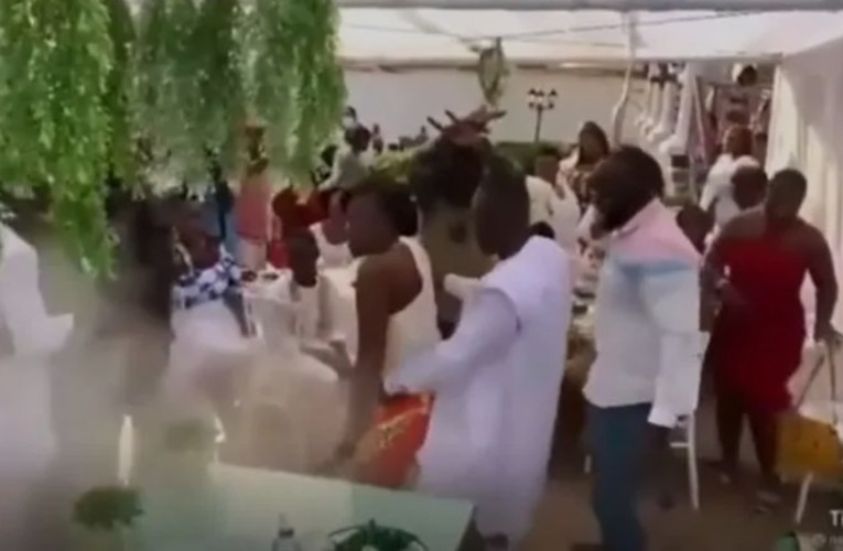 Groom abandons his wife to dance with a guest at their wedding reception