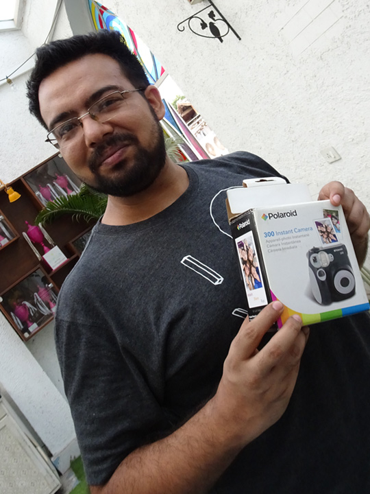Suvajeet won the much coveted Polaroid camera!