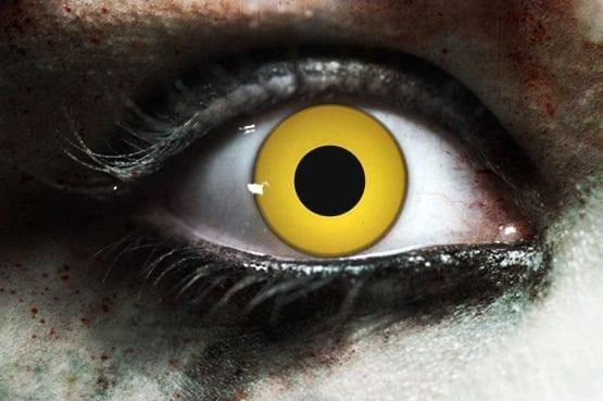 Zombie Yellow Gothika Contact Lenses