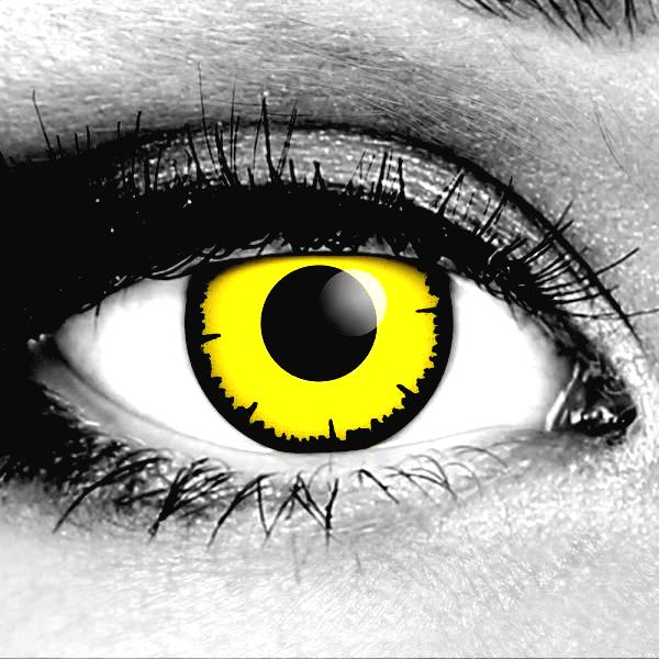 Angelic Yellow Gothika Contact Lenses