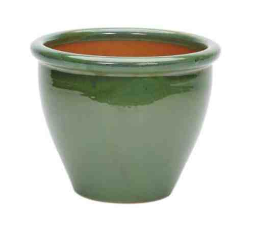 Ceramic plant Pot Glazed-Rim-Malay-Planter--