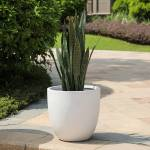 Grey-Round-Stone-Finish-Planter
