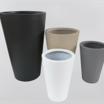 Fiber clay Planter Pot V-Shaped