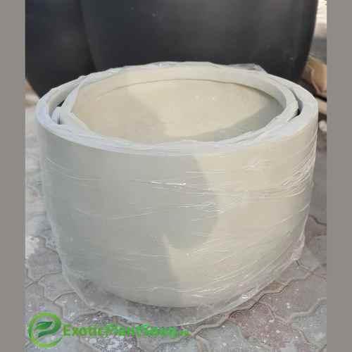 Fiber Clay Plant pot Circular