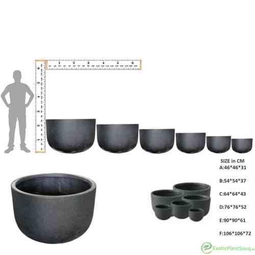 Fiber Clay planter pots