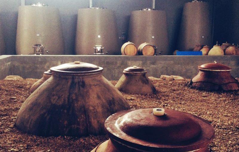zorah wines zorah karasi amphora in winery