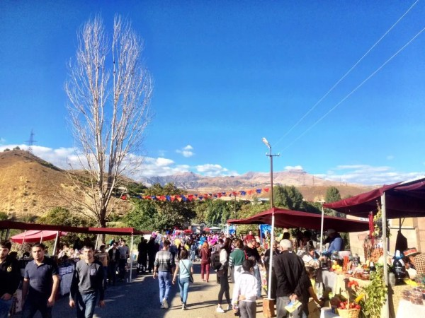 Blue skies at the Areni Festival in the heart of Vayots Dzor Armenian Wines