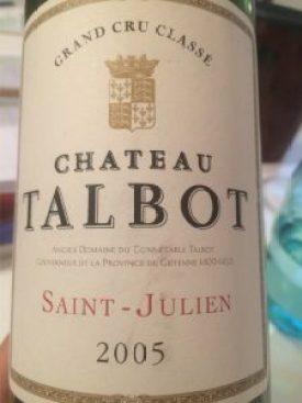Chateau Talbot, Saint Julien 2005