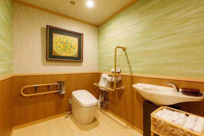 山代温泉【たちばな四季亭】新ひのき展望露天風呂付客室ベッドルームタイプ(和室10畳+ツイン)のトイレ