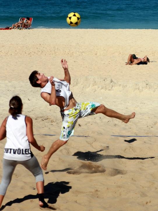 Footvolley, Ipanema Beach