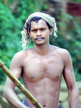 Boatman in Kerala.