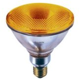 Orange PAR38 Halogen Light