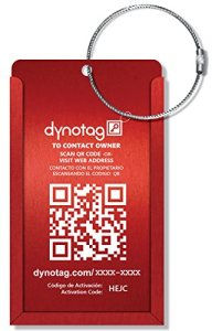 Dynotag Web/GPS Enabled QR Smart Aluminum Convertible Luggage Tag
