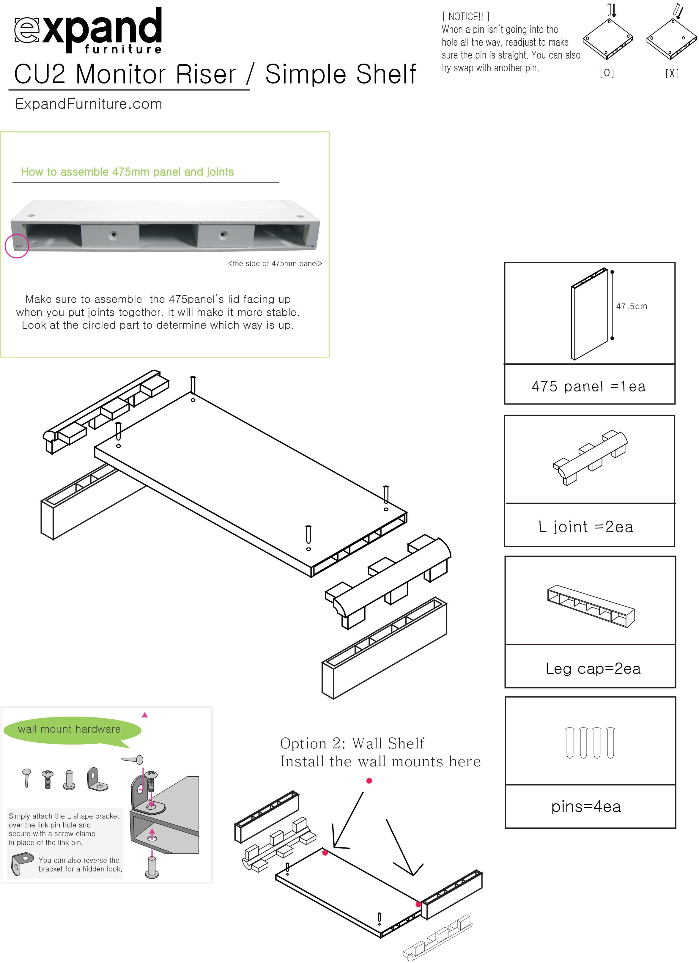 Modular Floating Wall Shelves