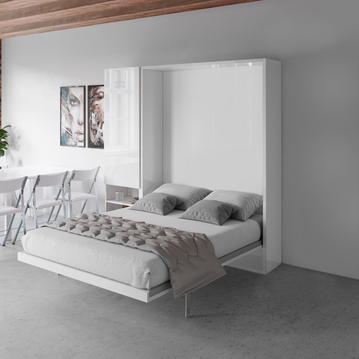 hover compact wall bed queen size expand furniture folding tables smarter wall beds space savers