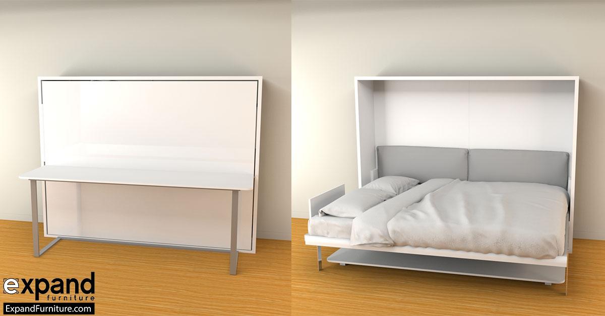 hover horizontal queen murphy bed desk