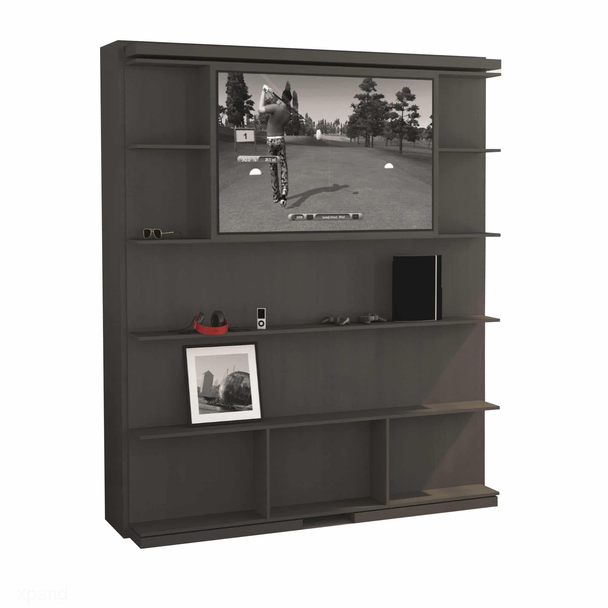 Compatto Tv Revolving Bookshelf Tv Murphy Bed