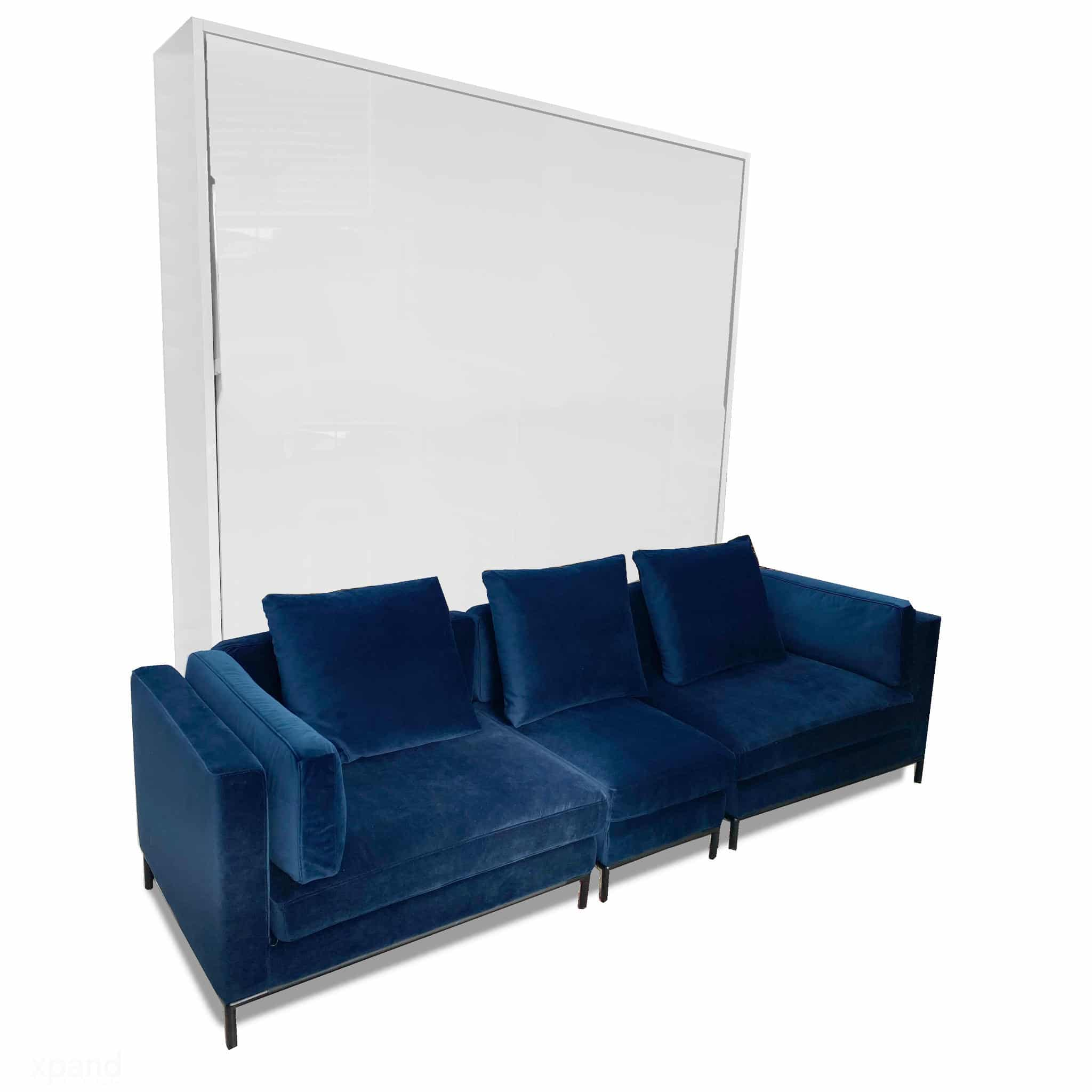 murphysofa navy blue migliore modular king size wall bed sofa