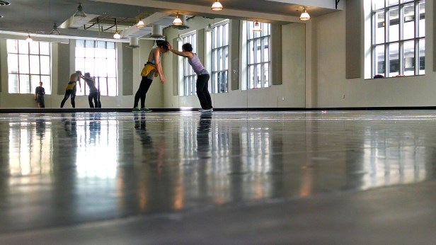 Kelly Hurlburt and Tammy Carrasco. Rehearsal. ChinaTour2014. Photo by Leisa DeCarlo