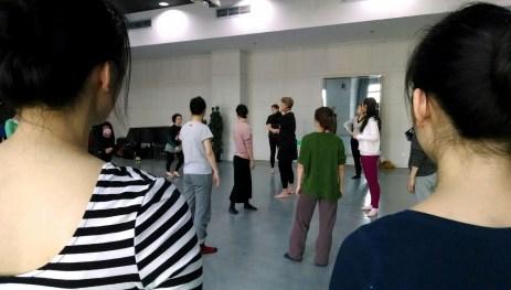 Workshop at Beijing Dance Academy. Photo by Leisa DeCarlo.
