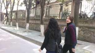Alice Bacani and Kelly Hurlburt in Wuhan. Photo by Leisa DeCarlo.