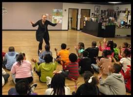 Susan Petry involves students in Columbus city school performance. Photo by Dori Jenks.