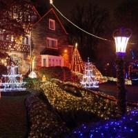 North Portal Street Christmas Lights at The Bishop's House - Washington, DC, 2014