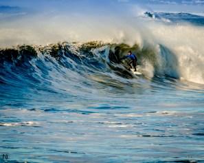 Surfer at The Cove Seaside Oregon