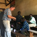 Handing Out De-worming Medicine that was provided for by Medical teams world wide