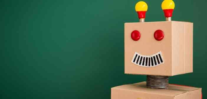 Bild på en leksaks robot