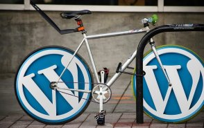 Foitografi på wordpress och en cykel