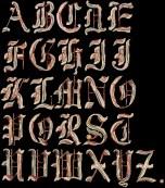 Bacon Alphabet