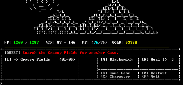Some of the ASCII art is really quite spiffing