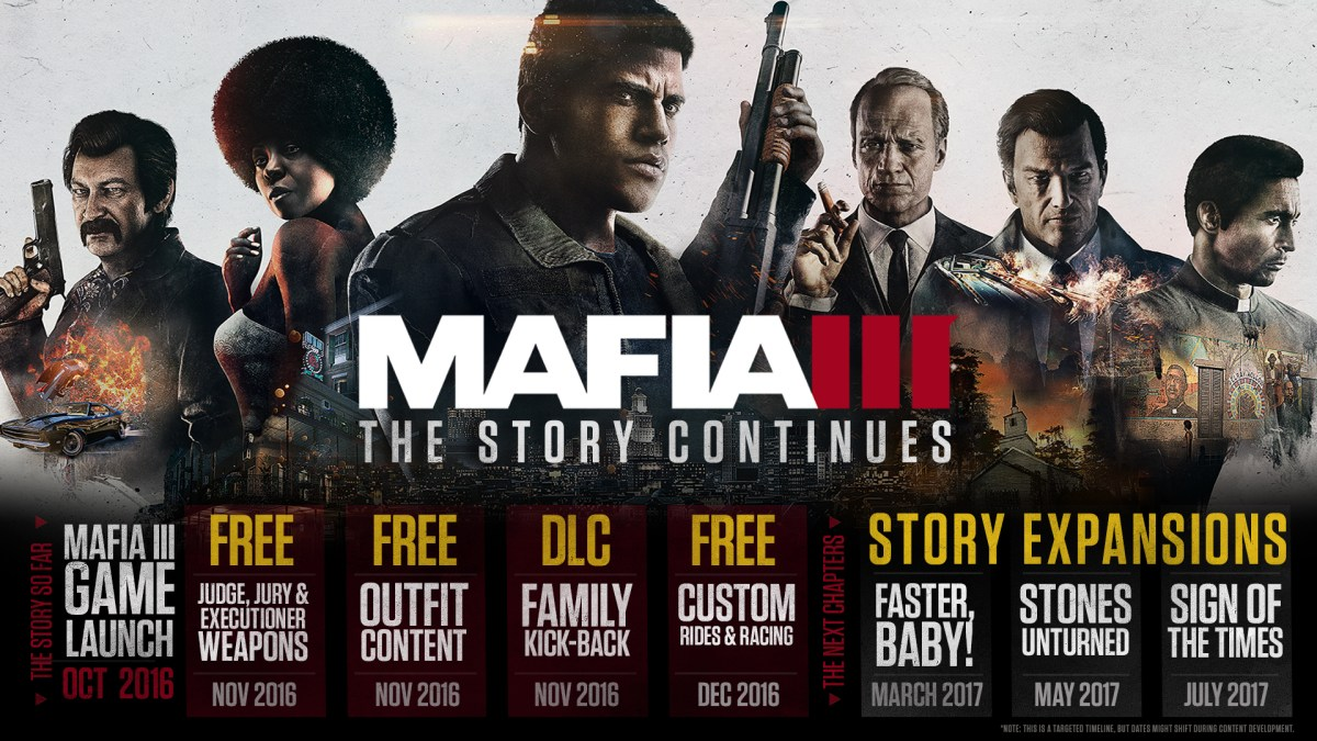 Mafia 3 gets DLC roadmap