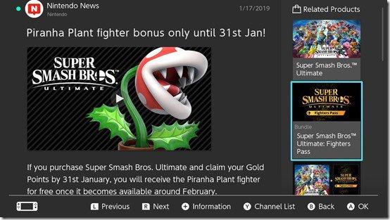 Piranha Plant DLC comes to Super Smash Bros Ultimate in February