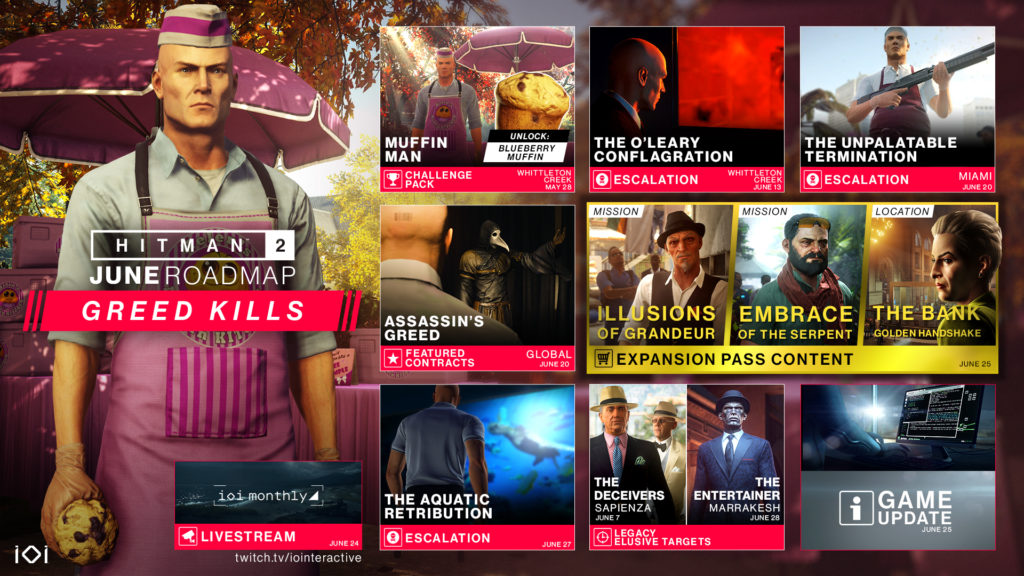 Hitman 2 Getting A Bumper Dlc Month In June As Greed Kills Expansive