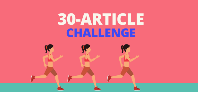 My 30-day challenge reader's digest!