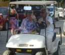 Golf carts are the preferred transportation