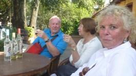 Jim, Yoi, and me sampling the wares