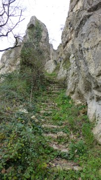 Ancient stairs leading to the Château