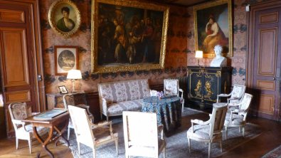 The drawing room. Parties there lasted for days.