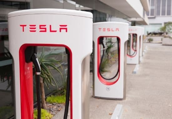 Tesla supercharger stations