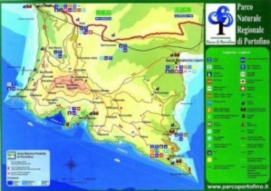 the map was from area Marina Protetta Portofino