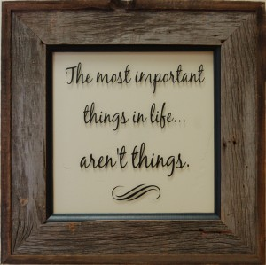 rustic-wall-decor-the important things in life